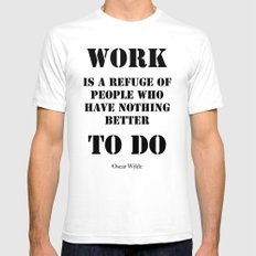 Work by Oscar Wilde (on white) Mens Fitted Tee White SMALL