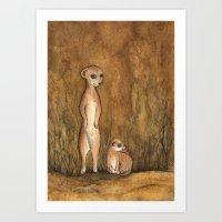 Meercats Art Print