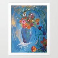 making flowers; the birds and the bees Art Print