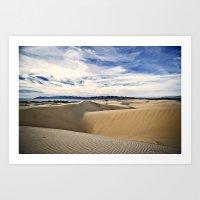 Sand Dunes And Ocean Vie… Art Print