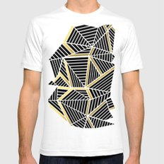 Ab 2 Silver and Gold SMALL Mens Fitted Tee White