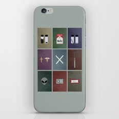 X-Files colors iPhone & iPod Skin