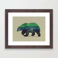 Polar Bear In Northern L… Framed Art Print