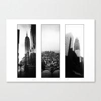 New York Triptych Canvas Print