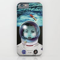 iPhone Cases featuring Miss Space Pilot by SEVENTRAPS