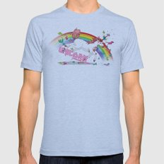 Unicorn: Destroyer of Ponies! Mens Fitted Tee Athletic Blue SMALL