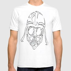 Baby Vader White SMALL Mens Fitted Tee