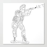 Military Art Canvas Print