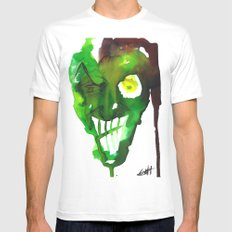 Goblin White Mens Fitted Tee SMALL
