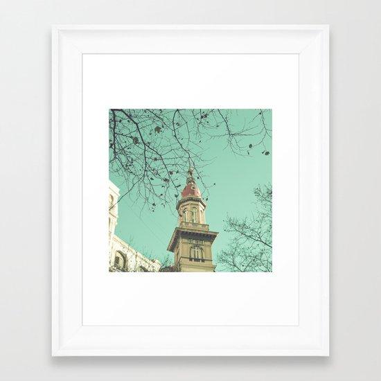 To the lighthouse Framed Art Print