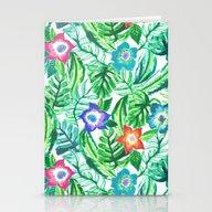 Stationery Cards featuring Blooming Paradise by Tangerine-Tane