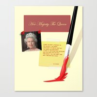 Her Majesty The Queen Canvas Print