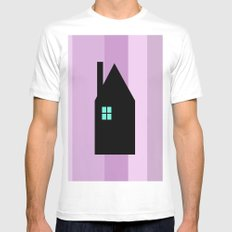The House With The Turquoise Light On No.3 Mens Fitted Tee White SMALL