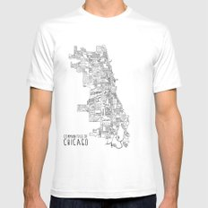 Communities of Chicago Mens Fitted Tee SMALL White