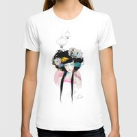 pastel T-shirts featuring Nenufar Girl by Ariana Perez