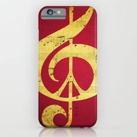 iPhone & iPod Case featuring Music & Peace Sheet Music by Inspireuart
