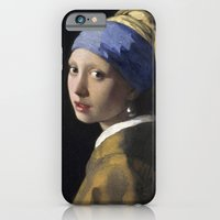 iPhone & iPod Case featuring Johannes Vermeer - Girl with a Pearl Earring by TilenHrovatic