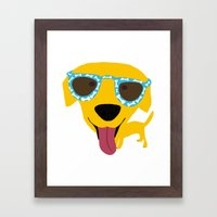 Labrador Dog - Sunglasse… Framed Art Print