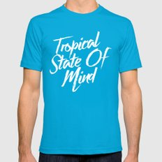 Tropical State Of Mind Mens Fitted Tee Teal SMALL