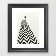 Twin Peaks Minimalist Po… Framed Art Print