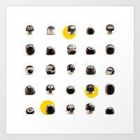 Stoneheads 002 Art Print