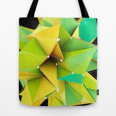 Polygons green Abstract Tote Bag