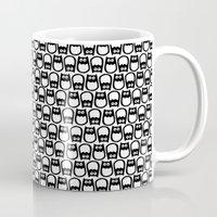 Owl Pattern No. 1 bw Mug