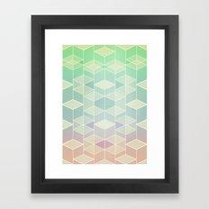 Upsidedown V Framed Art Print