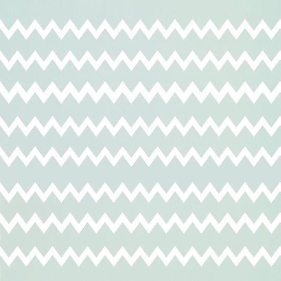 Wedgewood Blue Winter Chevron Design Art Print
