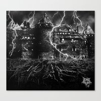 dark castle Canvas Print