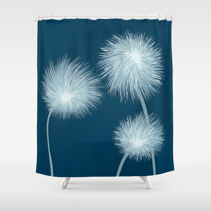 stylized dandelions shower curtain by rceeh society6