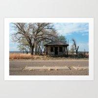 Glenrio, NM/TX, Route 66 Art Print