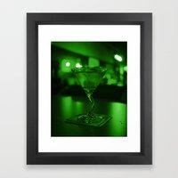 Martini Green Framed Art Print
