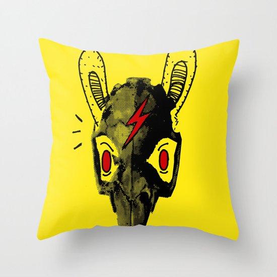Rabitt Skull Throw Pillow