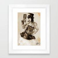 Steampunk Girl Framed Art Print