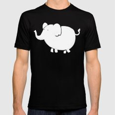 White Elephant  Black SMALL Mens Fitted Tee
