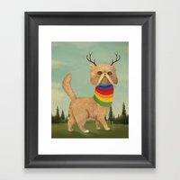 Reversed Nyan Cat.  Framed Art Print