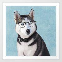 Mr Husky Art Print