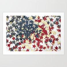 EUA FLAG STARS Art Print