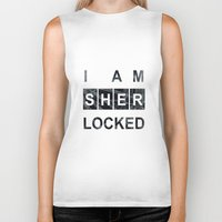 SHERLOCK I am Sherlocked Print Biker Tank