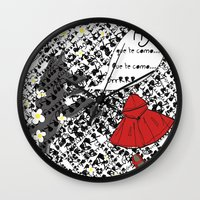 Little Red Riding Hood by Piarei Wall Clock