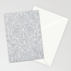 Abstract Lace on Grey Stationery Cards