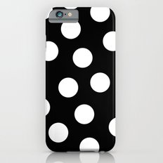Black and white dots iPhone 6 Slim Case