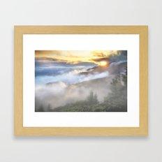 Sunrise And Dust Framed Art Print