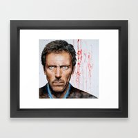 Hugh Laurie, House Framed Art Print