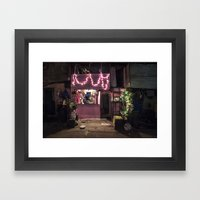 Divali Lights - Mahalaxmi, Mumbai, India Framed Art Print