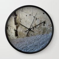 Stairway from the past. Wall Clock