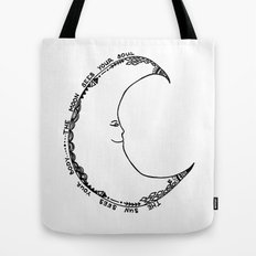 Moon Doodle Tote Bag
