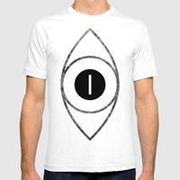 EYE Of Line Mens Fitted Tee White SMALL