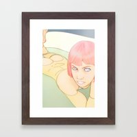Tub Time Framed Art Print